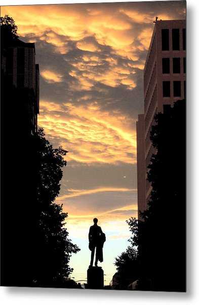 Sunset At Christchurch Metal Print