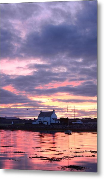 Sunset At Clachnaharry Metal Print