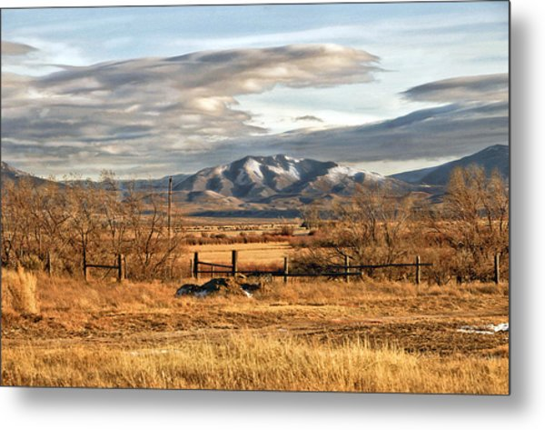 Sunset At Elk Mountain Wy Metal Print