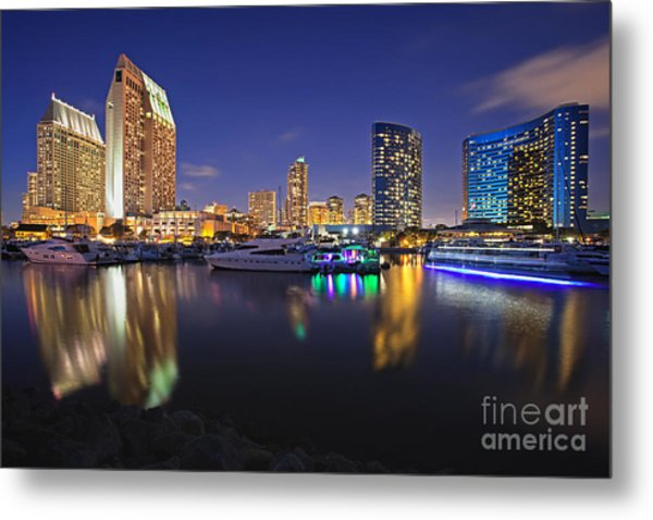 Sunset At Embarcadero Marina Park In San Diego Metal Print