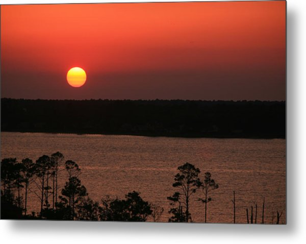 Sunset At Gulfshores Metal Print by James Jones