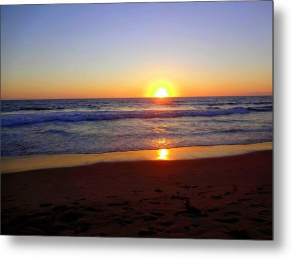 Sunset At Hermosa Metal Print