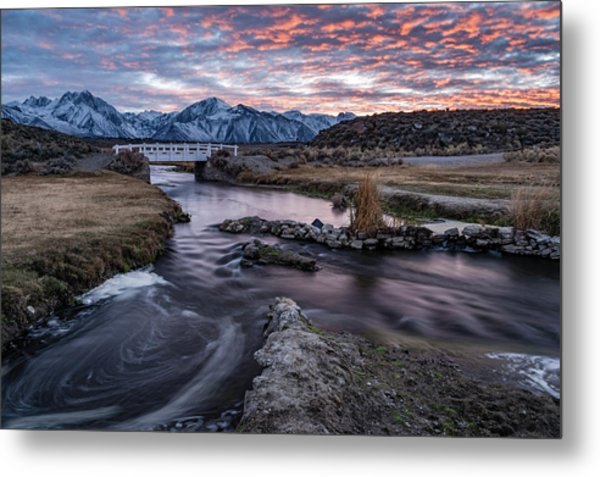 Sunset At Hot Creek Metal Print