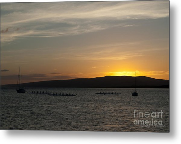Sunset At Kaunakakai Metal Print