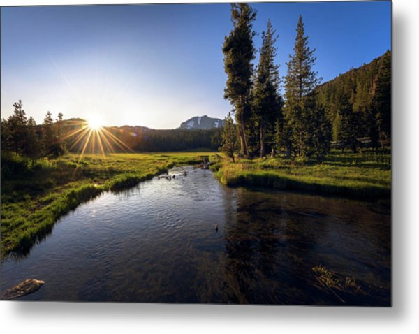 Sunset At Kings Creek In Lassen Volcanic National Metal Print