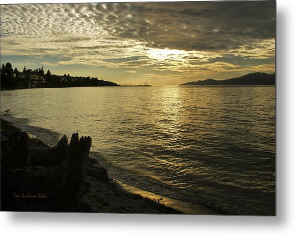 Sunset At Kitsilano Metal Print