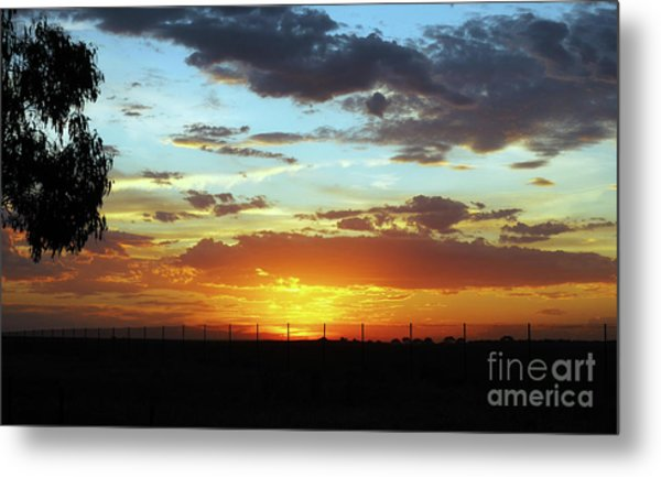 Sunset At Little River Victoria Metal Print