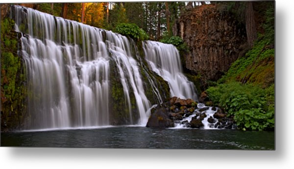 Sunset At Middle Falls Metal Print