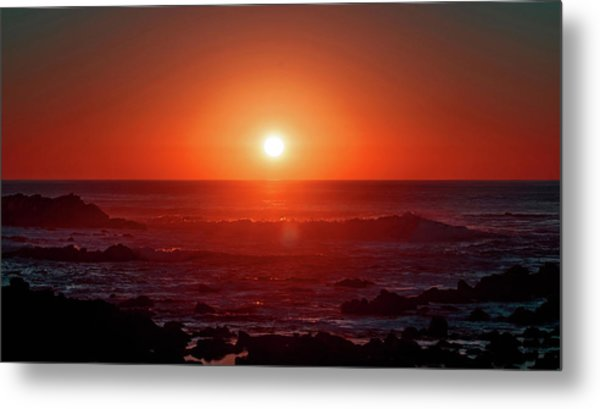 Sunset At Monterey Metal Print