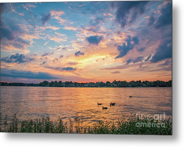 Sunset At Morse Lake Metal Print