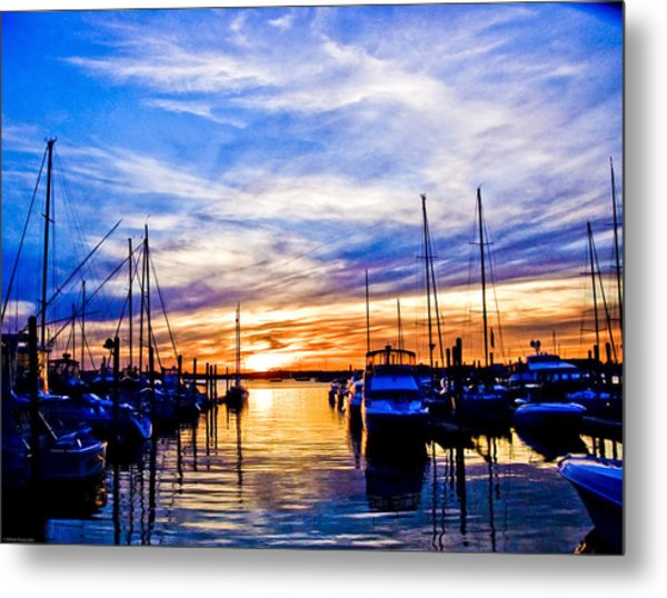 Sunset At Newport Metal Print