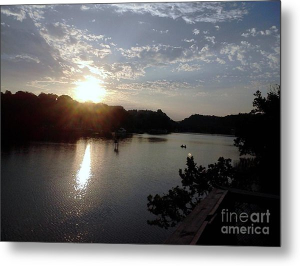 Sunset At Occoquan Metal Print