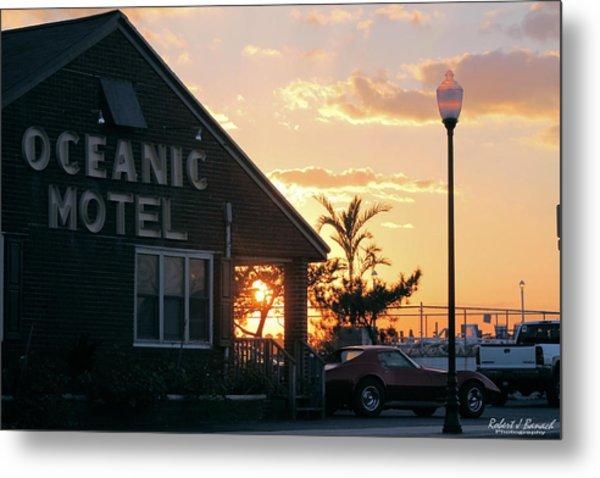 Sunset At Oceanic Motel Metal Print
