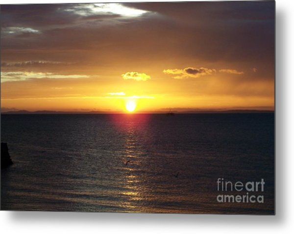 Sunset At Pacific Shores Metal Print by Dindin Coscolluela