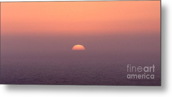 Sunset At Pacifica Metal Print