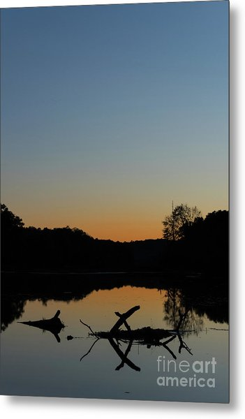 Sunset At Paulinskill Lake Metal Print