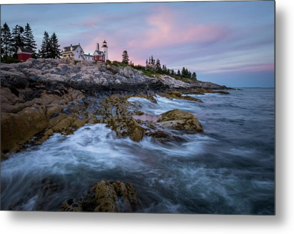 Sunset At Pemaquid Metal Print