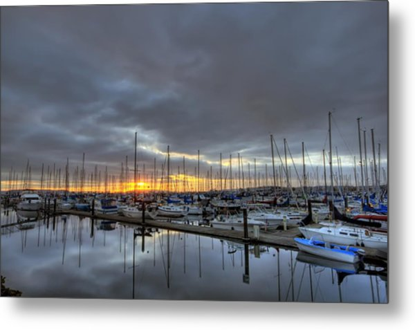 Sunset At Port Gardner Metal Print