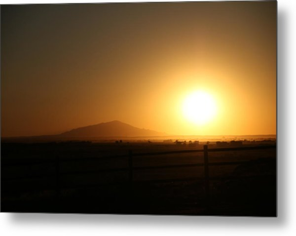 Sunset At Roswell New Mexico  Metal Print