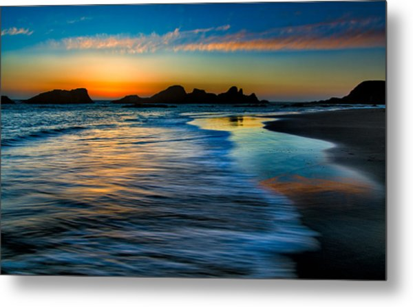 Sunset At Seal Rock Oregon Metal Print