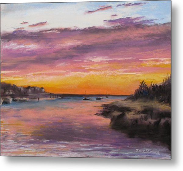 Sunset At Sesuit Harbor Metal Print
