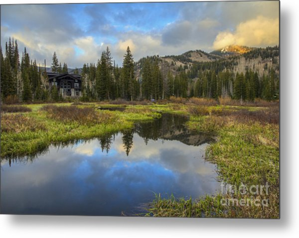 Sunset At Silver Lake Outlet Metal Print