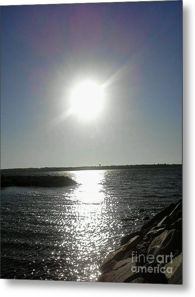 Sunset At Solomons Island Md Metal Print