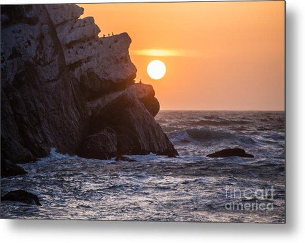 Sunset At Star Gazer Rock B3955 Metal Print