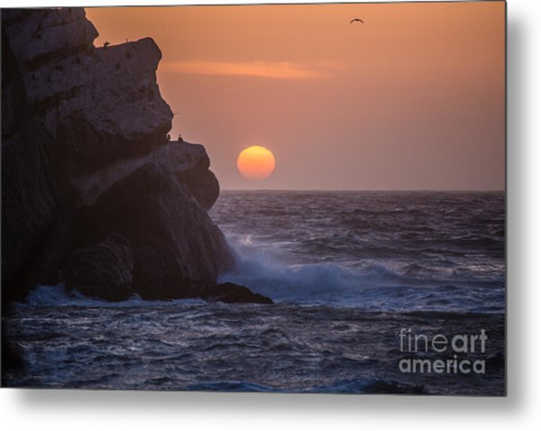 Sunset At Star Gazer Rock B3967 Metal Print by Stephen Parker