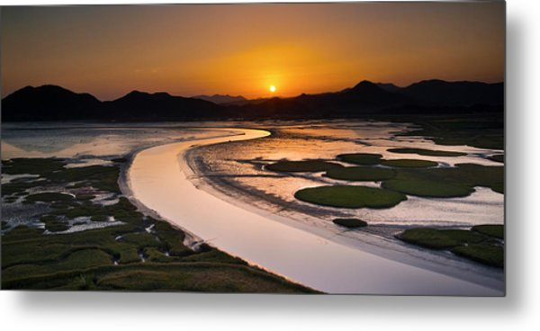 Sunset At Suncheon Bay Metal Print
