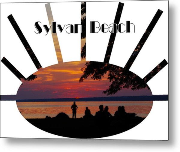 Sunset At Sylvan Beach - T-shirt Metal Print