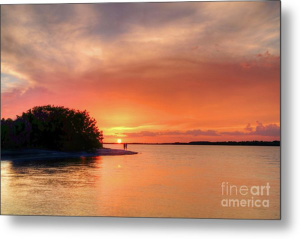 Sunset At The Beach Metal Print by Rick Mann