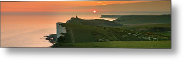 Sunset At The Belle Tout Lighthouse Metal Print