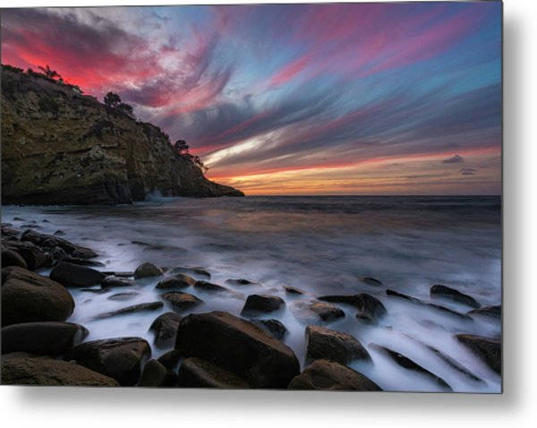 Sunset At The Cove Metal Print