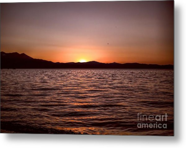Sunset At The Lake 2 Metal Print