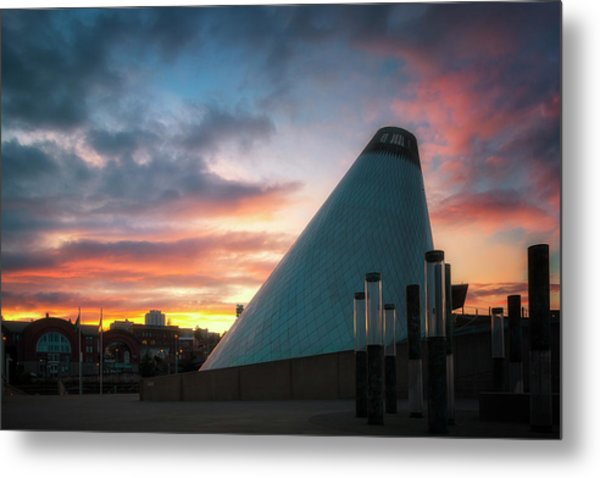 Sunset At The Museum Of Glass Metal Print