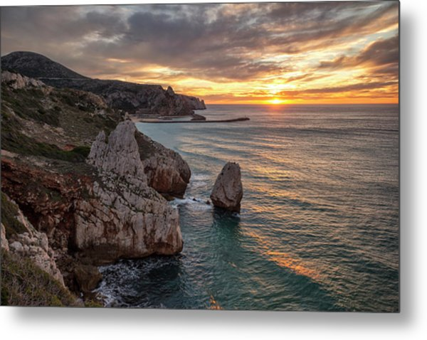 Sunset At The Nest Of The Eagle Metal Print