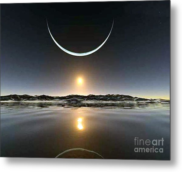 Sunset At The North Pole Metal Print
