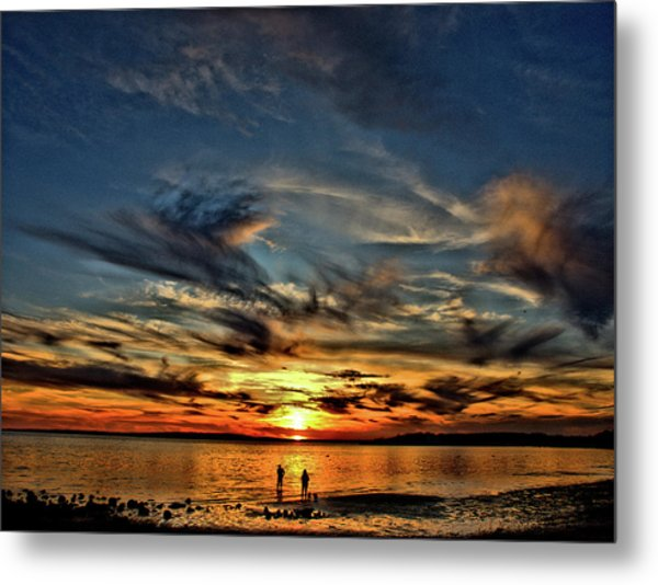 Sunset At The Waters Edge Metal Print