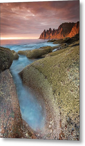 Sunset At Tungeneset Metal Print