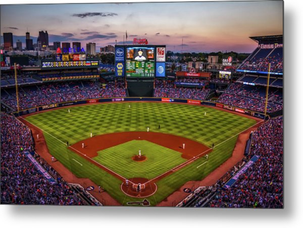 Sunset At Turner Field - Home Of The Atlanta Braves Metal Print
