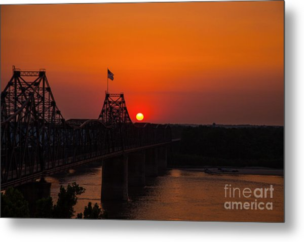 Sunset At Vicksburg Metal Print