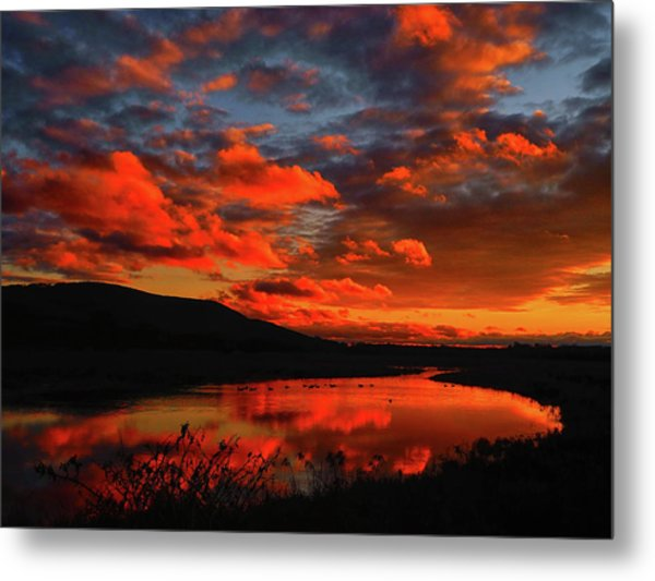 Sunset At Wallkill River National Wildlife Refuge Metal Print