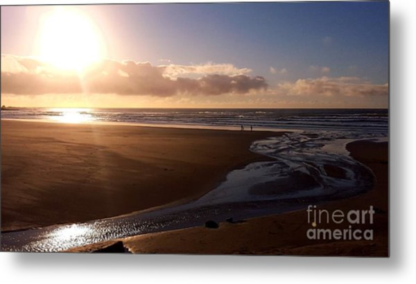 Sunset - Bastendorff Beach Metal Print