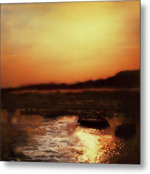 Sunset Bay  Metal Print by Paul Tokarski