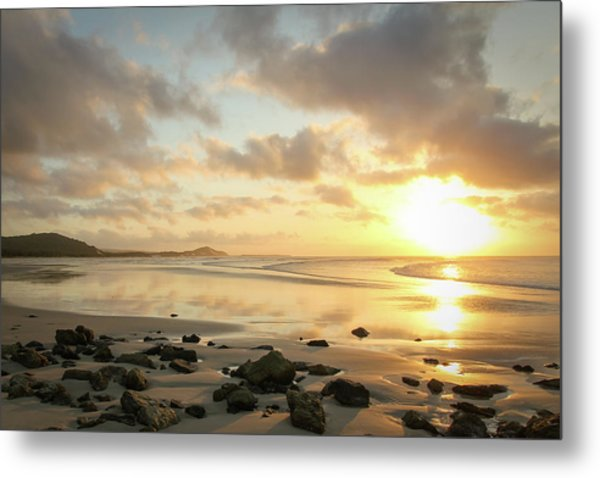 Sunset Beach Delight Metal Print