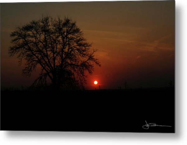 Sunset Bloody Sunset Metal Print