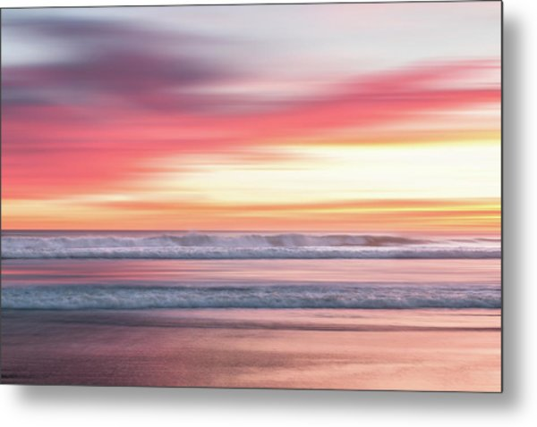 Metal Print featuring the photograph Sunset Blur - Pink by Patti Deters