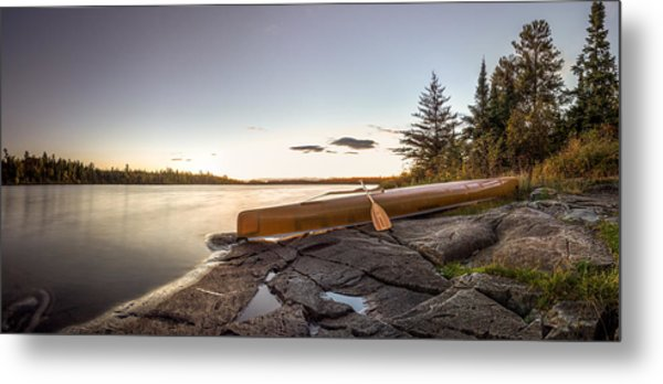 Sunset // Boundary Waters Canoe Area, Minnesota  Metal Print