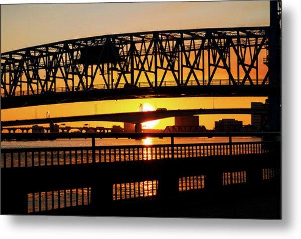 Sunset Bridge 4 Metal Print